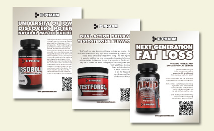 Sales Flyer Epharm Nutrition Print Material