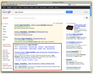 Example of Organic Results via Search Engine Optimization