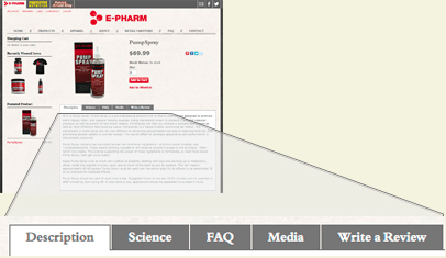 Ecommerce design project by Six Demon Studio for E-Pharm Nutrition