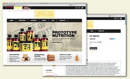 Ecommerce design project by Six Demon Studio for Prototype Nutrition